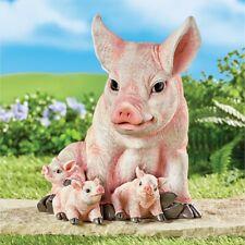 Delightful Mamma Pig & Piglets Family Outdoor Garden Statue