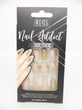 Ardell Professional Nail Addict Premium Artificial Nail Set, Nude Jeweled, 24 pc