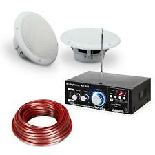 Altavoz Terraza Amplificador Parlantes Exterior Equipo Sonido Impermeable USB