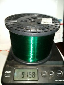 Magnet Wire 32 Gauge AWG Enameled Copper Winding 155°C Green 9 lbs of wire.