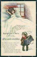 Bertiglia Spartito Musicale Note Children postcard cartolina QT5383