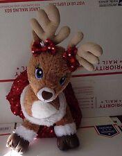 Build A Bear Team Santa Reindeer Sparkle Fur Blue Eyes  Cupid or Vixon Dressed