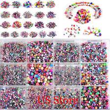 110pcs Wholesale Bulk Lots Body Piercing Eyebrow Jewelry Belly Tongue Bar Ring