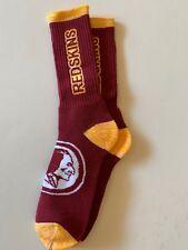 Washington Redskins Adult Socks- 1 Pair- Large - Brand New Free Shipping (D4)