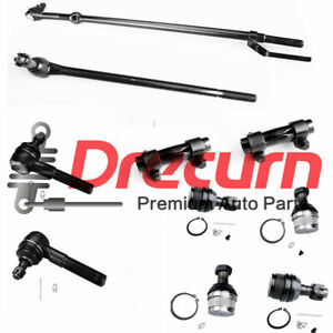 10Pcs Tie Rod & Ball Joint Kit For 1980- 1996 Ford F-150 Bronco 4WD