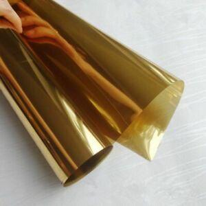 3MIL 15%VLT One Way Vision Mirror Vinyl Self Adhesive Home Film Gold Decoration