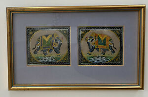 Antique 19th Century Persian Indian Mughal Empire Goauche Painting