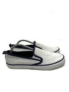 Sperry Top Sider Seaside Canvas Slip On Casual Shoes White STS84584 Women's 12