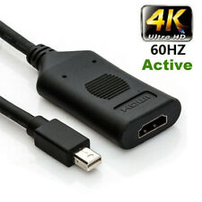 Active Mini DisplayPort (Thunderbolt 2) to HDMI adapter 4k@60HZ Male to Female