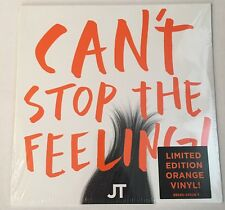 JUSTIN TIMBERLAKE CAN'T STOP THE FEELING! LP Orange Vinyl TROLLS MOVIE DREAMWORK