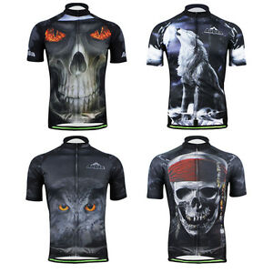 3D Design Men's Cycling Jersey Short Sleeve Bike Bicycle Biking Jerseys Shirt