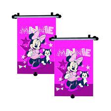 2 x Genuine Disney Minnie Mouse Car Sun Shade Roller Window Blind for Kids