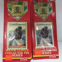 1991 SCORE MVP Boston Red Sox Mo Vaughn MLB Collector Pin & Card LOT of 16
