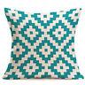 "Decorative Pillow Case Geometric Cushion Cover Waist Throw Sofa Home Decor 17"""