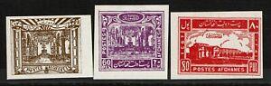 3 Afghan Mint No Gum, Hinge Remnant - S14111