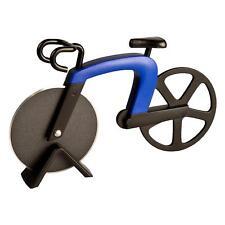 Pizzaschneider Fahrrad Pizza Cutter rostfreier Stahl Antihaft-Beschichtung Blau