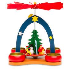 SIKORA P26 Christmas Pyramid Small Colourful Kids Children Tea Light Wooden NEW