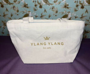 "Ylang Ylang Tote Luxury Designer Jewelry Beige Small Canvas ""Beyoutiful"""