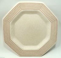 "VTG JCPenney PINSTRIPE OCTAGON CHINA RARE 10 7/8"" DINNER PLATES (s)"