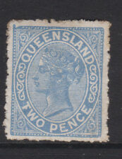 """QUEENSLAND - 1890/94 2d BLUE WITH """"FWO"""" FOR """"TWO"""" ERROR MINT SG.190a  (REF.D61)"""