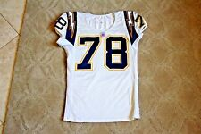 DeQuincy Scott 2004 San Diego Chargers game used jersey size 50 shortened