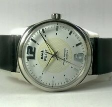 HMT PILOT HAND WINDING VINTAGE WATCH~ WHITE DIAL With Radium hands