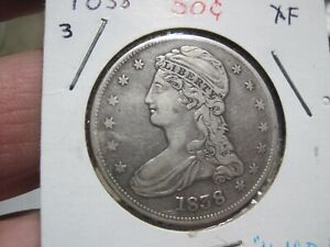 1838 capped bust half dollar  XF details