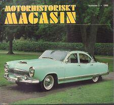 Motorhistoriskt Magasin Swedish Car Magazine #3 1986 Kaiser 1954 031617nonDBE