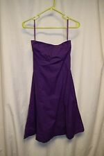 Womens Dress Size 6 By Gap Purple Strapless Bra Lined Above the Knee