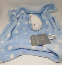 08 - GRAND DOUDOU COUVERTURE PLAID OURS PLAT POIS ROND BLANC EARLY DAYS PRIMARK