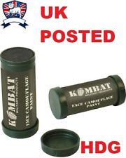 BRITISH ARMY CAMO CAMOUFLAGE CREAM 2 COLOUR - WAR FACE PAINT BALL COMPACT SAS