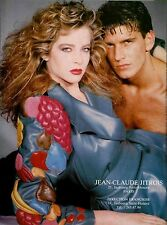 RARE Jean Claude Jitrois Pink Leather Skirt Suit Jacket