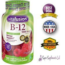 Vitafusion VITAMIN B12 FAST Dissolve 1000 Mcg 140 Gummies Promotes Max Energy