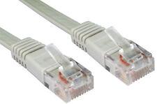 15m GRIS Câble Réseau Plat RJ45 UTP CAT5e Cat5 Cat 5 Ethernet Cordon Laptop PC