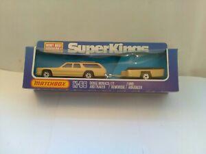Vintage Matchbox Super kings K-68 Dodge Monaco And Trailer Models Never Been Out