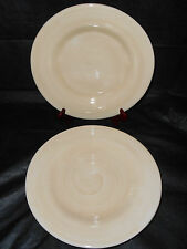 """4 POTTERY BARN Sausalito Ivory Yellow Cream Natural 12"""" Dinner Plates Platters"""