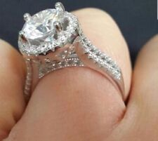 925 Sterling Silver Brilliant Round Cut 2.00 Carat Solitaire Engagement Ring