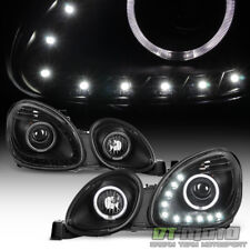 For 1998-2005 Lexus GS300 GS400 DRL LED Halo Projector Headlights Left+Right Blk