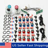2 Player Arcade DIY Kit Game USB Controller Joystick LED Lighted Push   US