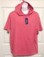 NWT MEN'S POLO RALPH LAUREN HOODED SHORT SLEEVE T-SHIRT RED (CORAL) XL $49.50