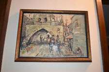 Painted picture is hand painted, signed, a beauty Mediterranean cityscape 22x16