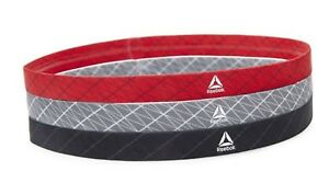 Reebok Unisex Sports Headband Hairband Black Red Gray OSFM GYM Bands RAYG-13101