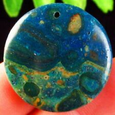 30x30x5mm Blue New Ghost's Eye Jasper Round Pendant Bead M12539