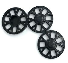 Lego 3 New Black Wheel Cover 7 Spoke Y Shape for Wheel Pieces