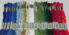 LOT PEARL COTTON #5 24 SKEINS EMBROIDERY THREAD DMC CHRISTMAS HOLIDAYS 5283 5282