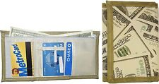 Lot of 2 New men's Trifold wallet, zip billfold wallet. 3 pocket man's wallet BN