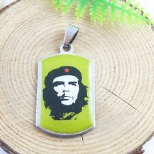 2pcs Stainless Steel CHE GUEVARA Print Necklace Pendant Jewellery Making 51472