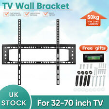TV Wall Mount Bracket Shelf Slim Flat Plasma LCD LED Max 50kg  32-70 inches