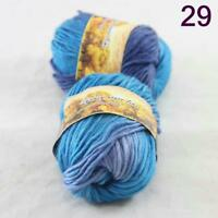Sale Lot of 2 Skeins New Knitting Yarn Chunky Colorful Hand Wool Wrap Scarves 29