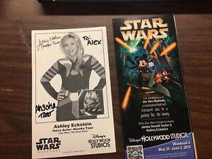 Ashley Eckstein Autograph Asoka Tano Disney Star Wars Weekend 2013